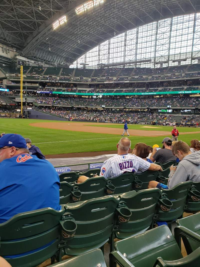 Seating view for American Family Field Section 126 Row 6 Seat 15