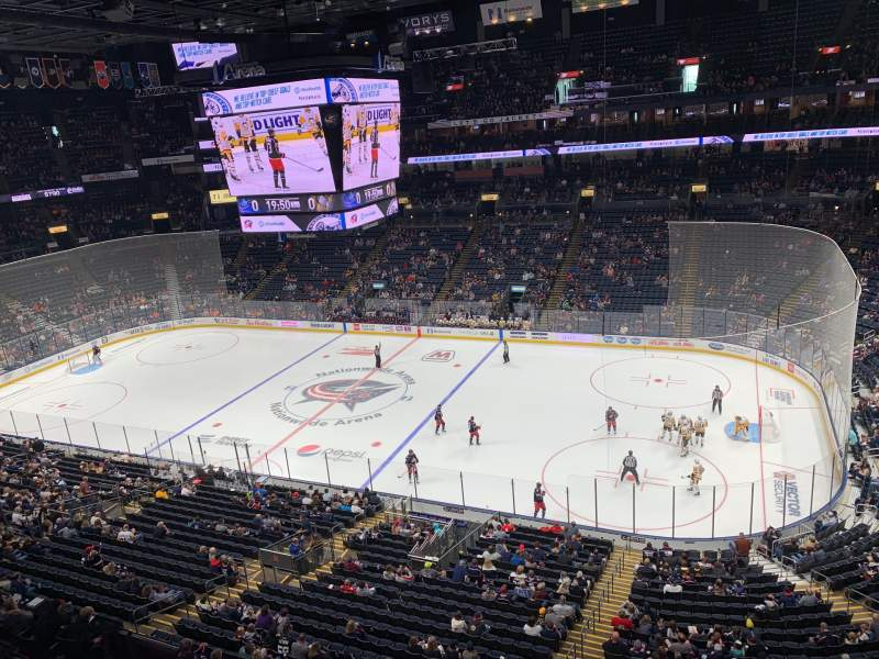 Seating view for Nationwide Arena Section 215 Row A Seat 12