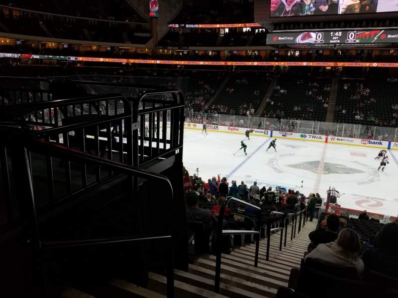 Seating view for xcel energy center Section 116 Row 26 Seat 20
