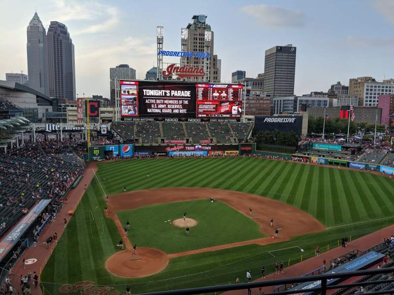 Seating view for Progressive Field Section 451 Row C Seat 10