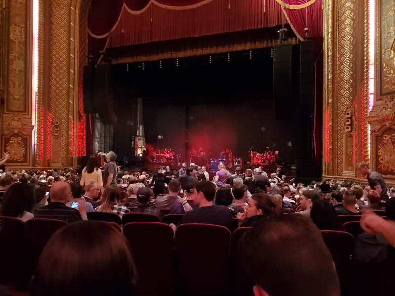 Seating view for Wang Theatre Section Orchestra R Row Q Seat 16