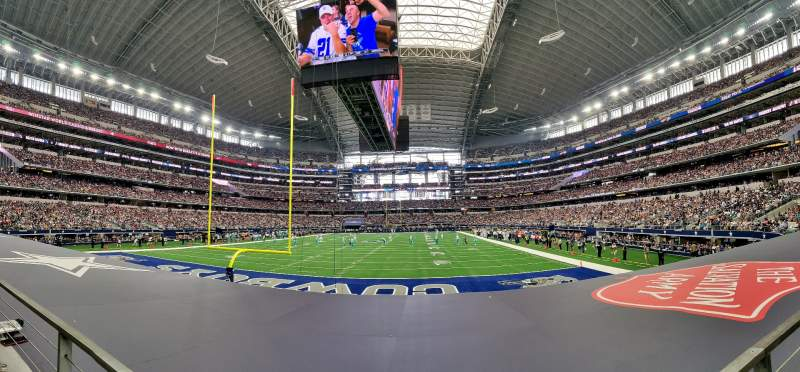 Seating view for AT&T Stadium Section 122 Row 8 Seat 12