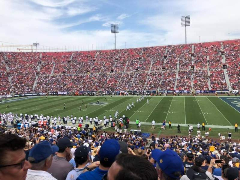 Seating view for Los Angeles Memorial Coliseum Section 105A Row 36 Seat 10