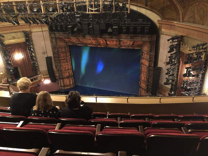 Seating view for St. James Theatre Section Balcony R Row E Seat 18