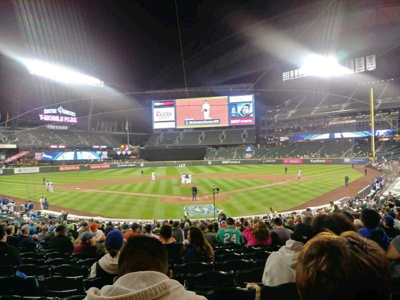 Seating view for T-Mobile Park Section 131 Row 26 Seat 6