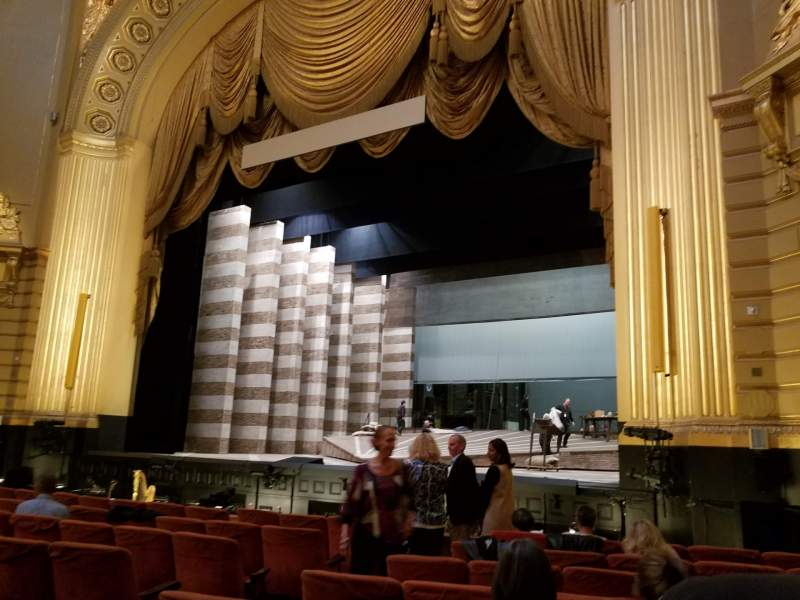 Seating view for War Memorial Opera House Section orchestra Row H Seat 10