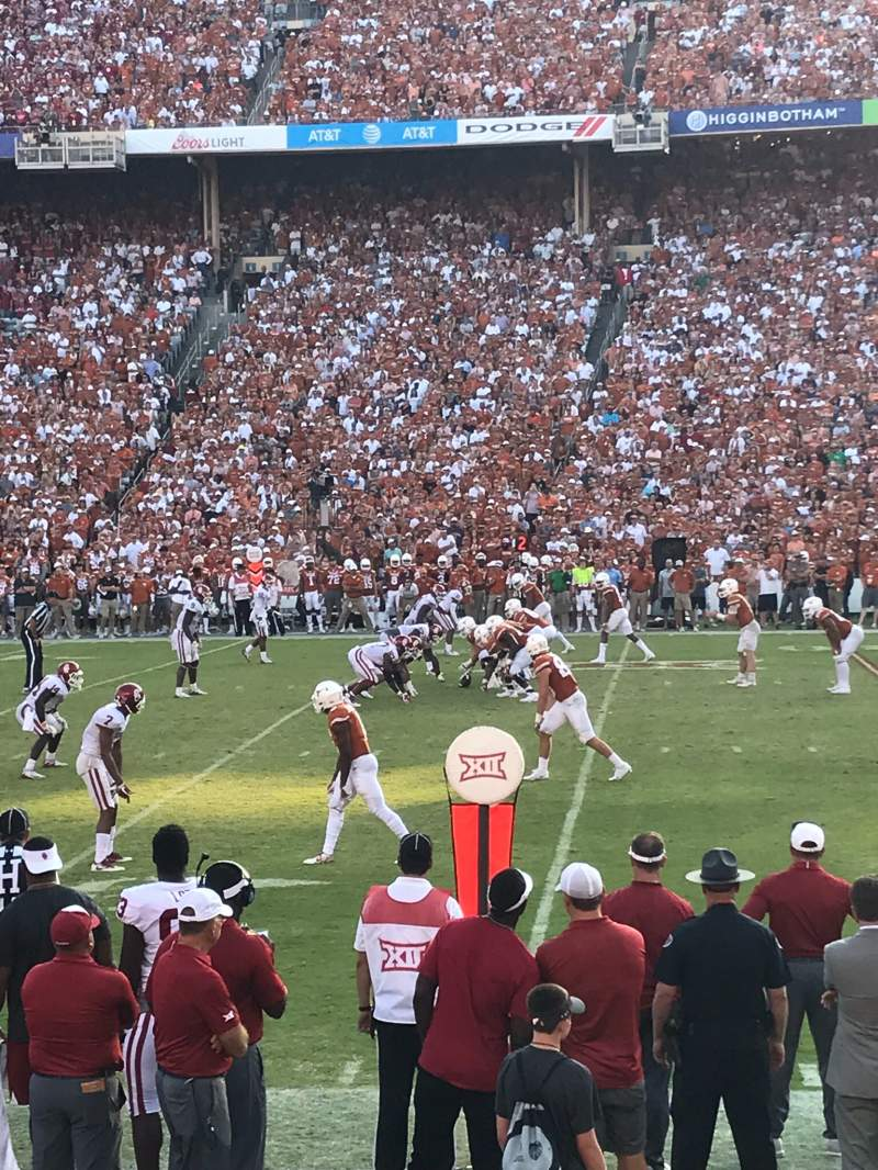 Seating view for Cotton Bowl Section 22 Row 9