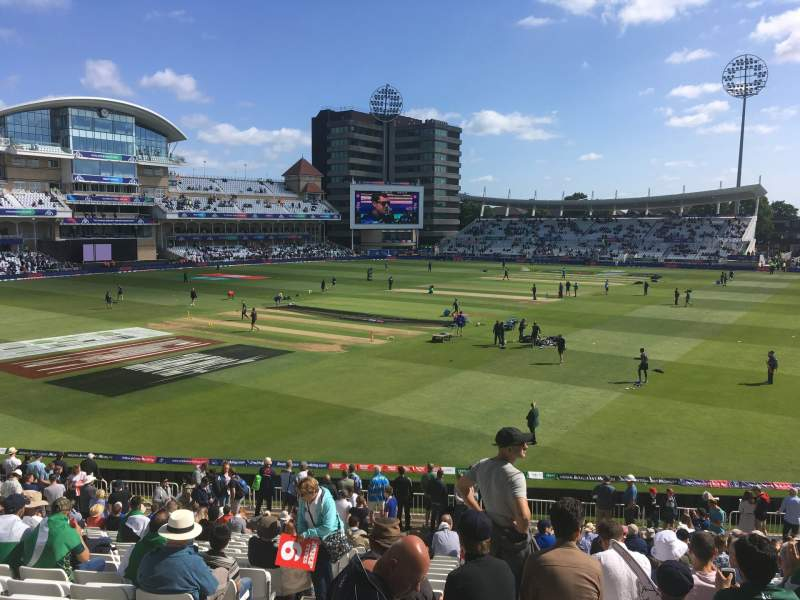 Seating view for Trent Bridge Section Bridgeford Road Stand Row X Seat 67