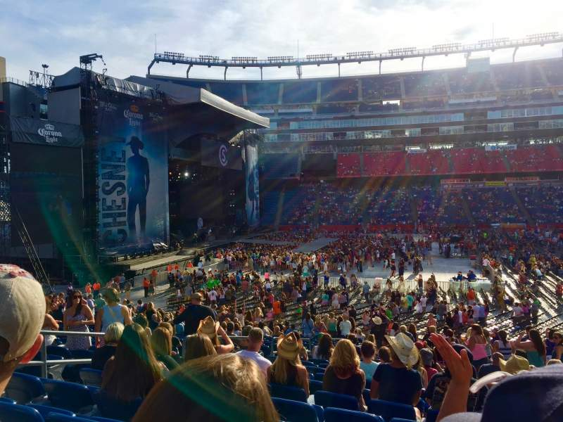 Seating view for Gillette Stadium Section 111 Row 27 Seat 14