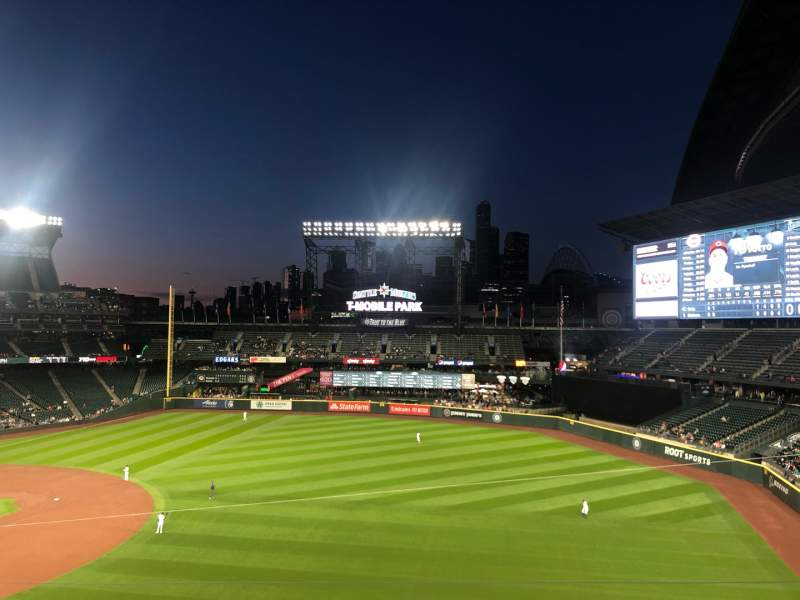 Seating view for T-Mobile Park Section Allstar Club