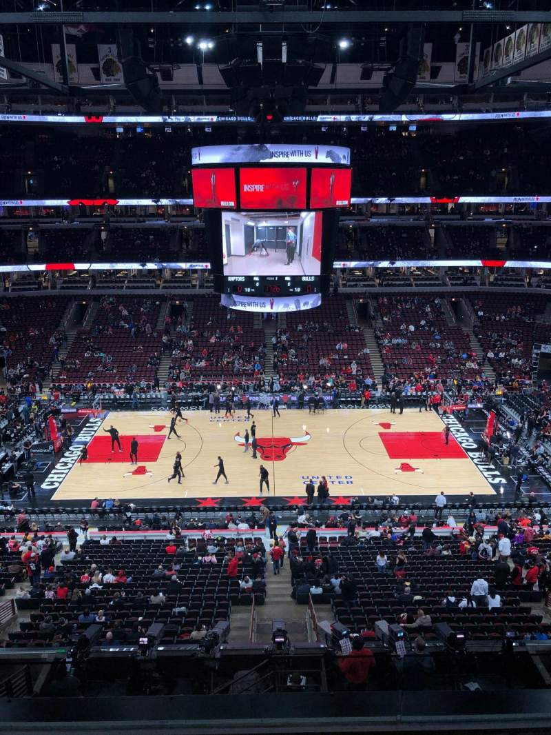 Seating view for United Center Section 317 Row 5 Seat 3
