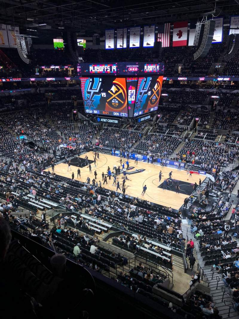 Seating view for AT&T Center Section 222 Row 12 Seat 6