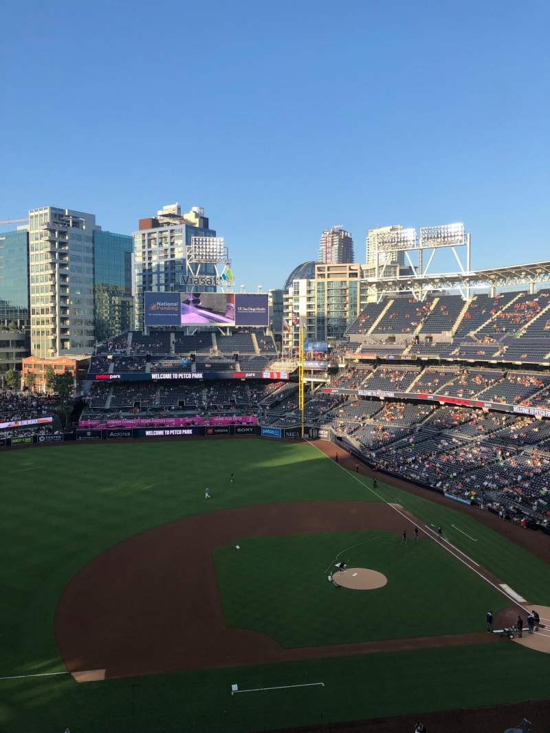 Seating view for PETCO Park Section 312 Row 3 Seat 5