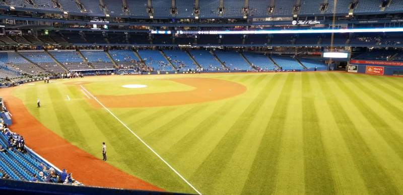 Seating view for Rogers Centre Section 211R Row 1 Seat 7