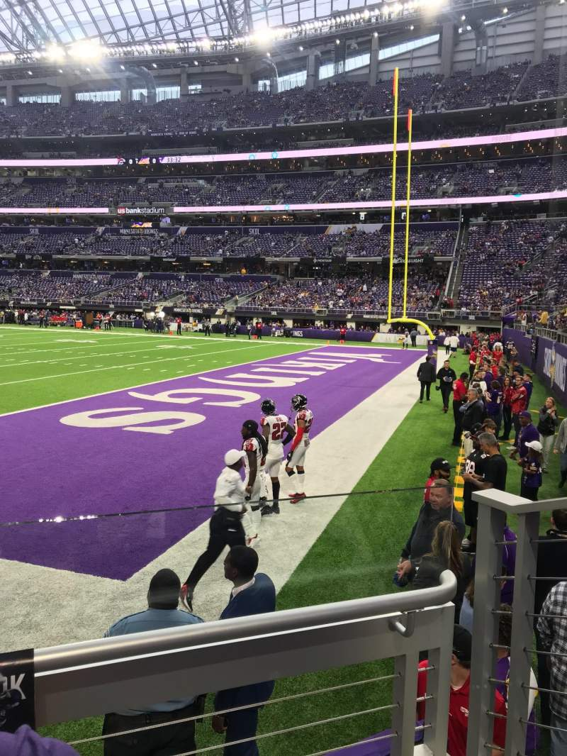 Seating view for U.S. Bank Stadium Section 103 Row 2 Seat 3