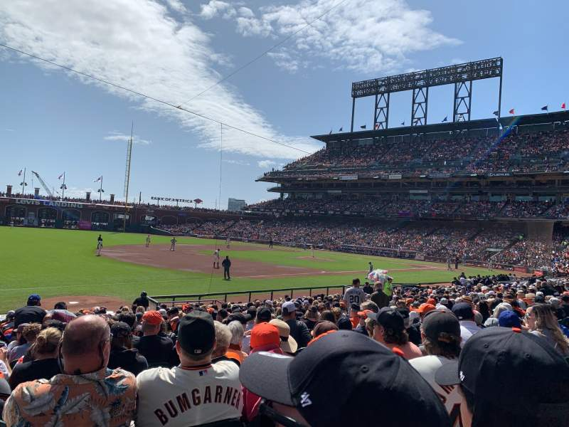 Seating view for Oracle Park Section 127 Row 20 Seat 15