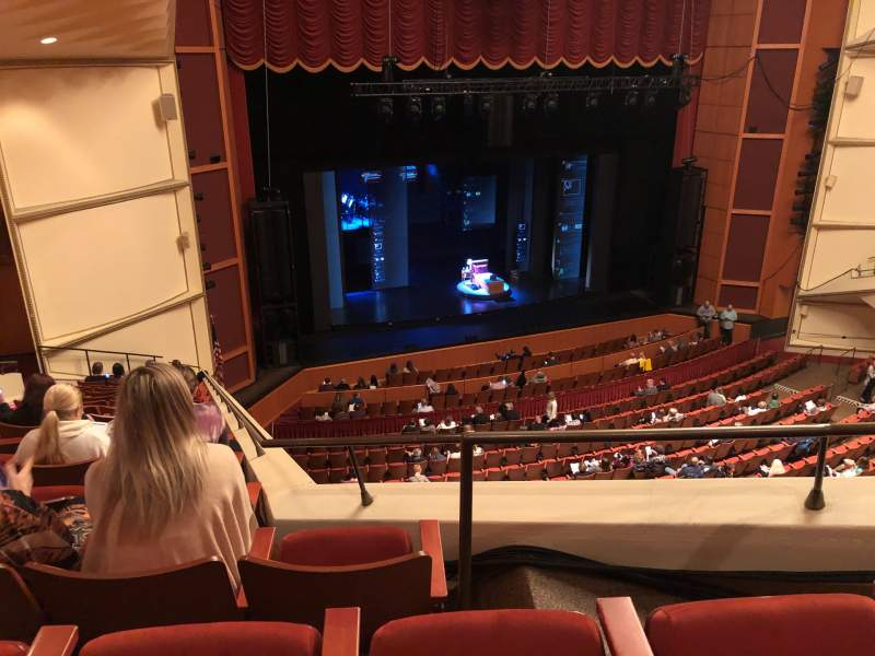 Seating view for Uihlein Hall Section LOGE Row A Seat 4