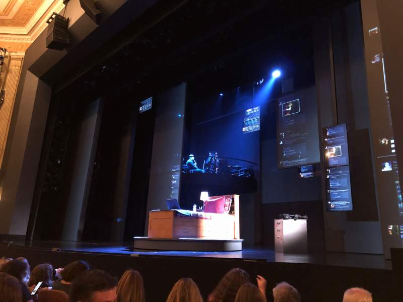 Seating view for Music Box Theatre Section Orchestra R Row E Seat 12