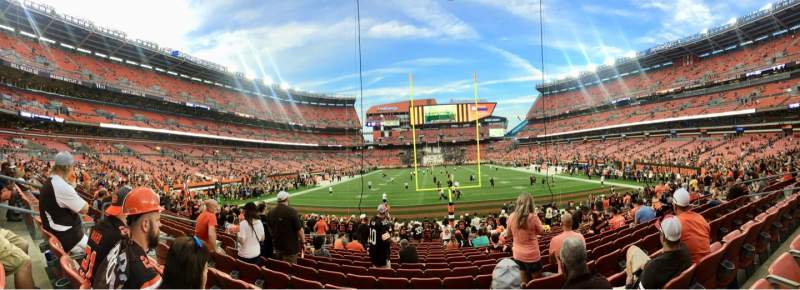 Seating view for FirstEnergy Stadium Section 147 Row 18  Seat 7