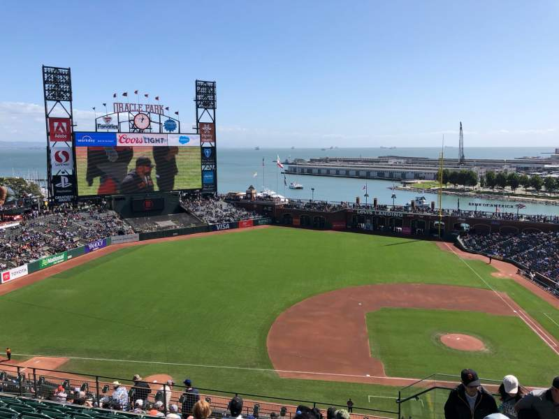 Seating view for Oracle Park Section VR324 Row 8 Seat 2