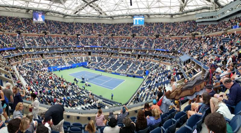 Seating view for Arthur Ashe Stadium Section 132 Row G Seat 8