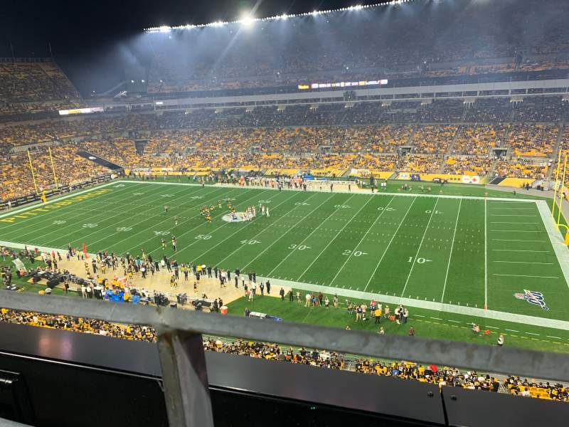 Seating view for Heinz Field Section 538 Row A Seat 16