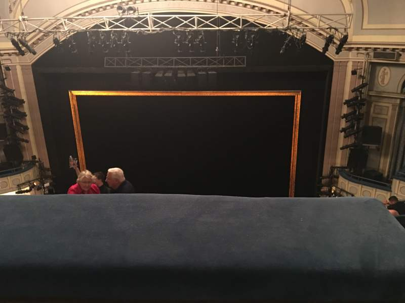 Seating view for Ambassador Theatre Section Rear Mezzanine RC Row C Seat 123