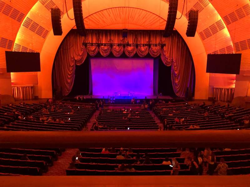Seating view for Radio City Music Hall Section 1st Mezzanine 4 Row A Seat 407