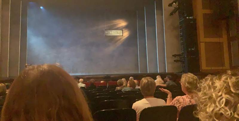 Seating view for Murat Theatre at Old National Centre Section Orchestra C Row M Seat 11
