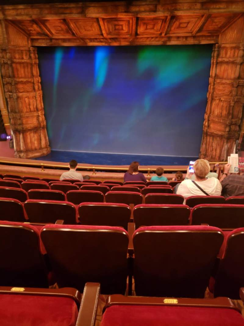 Seating view for St. James Theatre Section Mezzanine C Row H Seat 101