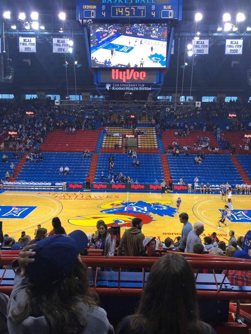 Seating view for Allen Fieldhouse Section 6 Row 9 Seat 8