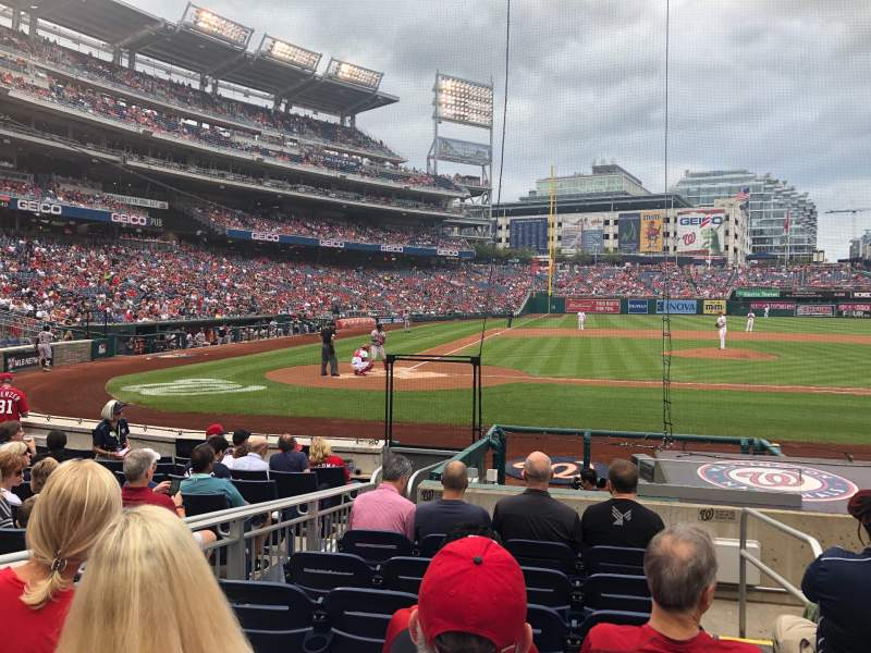 Seating view for Nationals Park Section 127 Row L Seat 1
