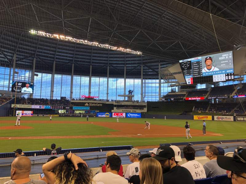 Seating view for Marlins Park Section 9 Row E Seat 8