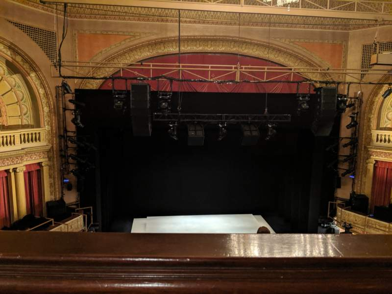 Seating view for Ethel Barrymore Theatre Section Rear mezzanine c Row A Seat 102