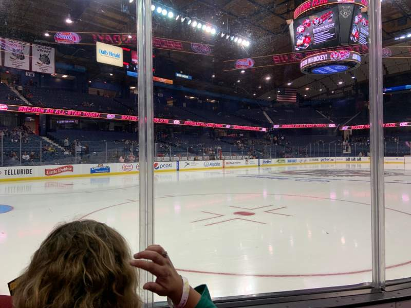 Seating view for Allstate Arena Section 105 Row Bb Seat 8-9