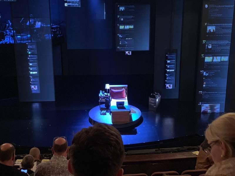 Seating view for Music Box Theatre Section Mezzanine C Row H Seat 106
