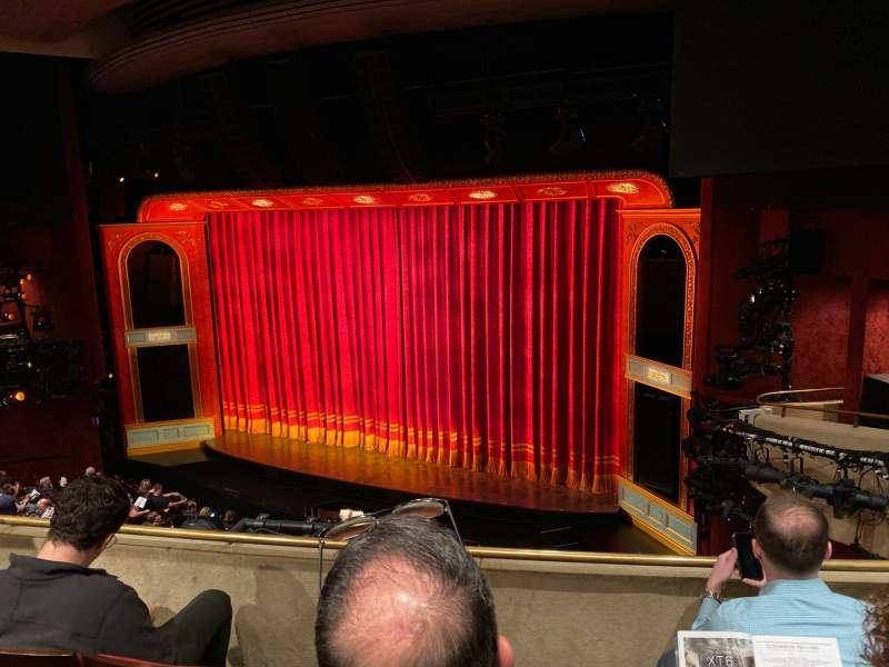 Seating view for Marquis Theatre Section Mezzanine R Row C Seat 14