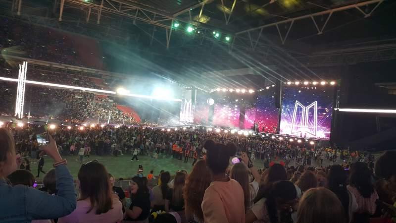 Concert photos at Wembley Stadium.