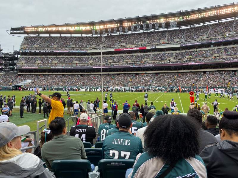 Seating view for Lincoln Financial Field Section 104 Row 6 Seat 16