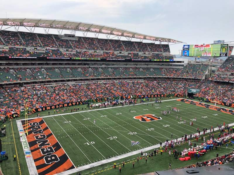 Seating view for Paul Brown Stadium Section 345 Row 1 Seat 17