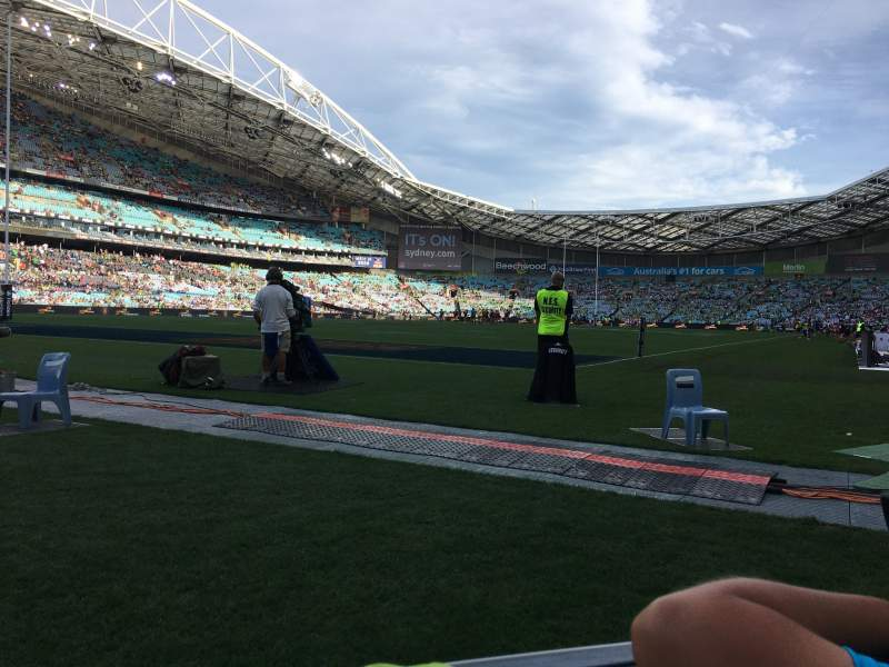 Seating view for ANZ Stadium Section 124 Row 1 Seat 32-35