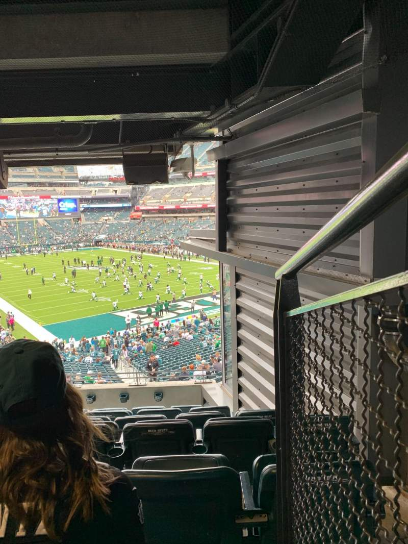 Seating view for Lincoln Financial Field Section NE Terrace 1 Row 7 Seat 1