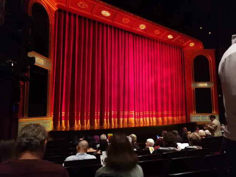 Seating view for Marquis Theatre Section Orchestra L Row K Seat 11