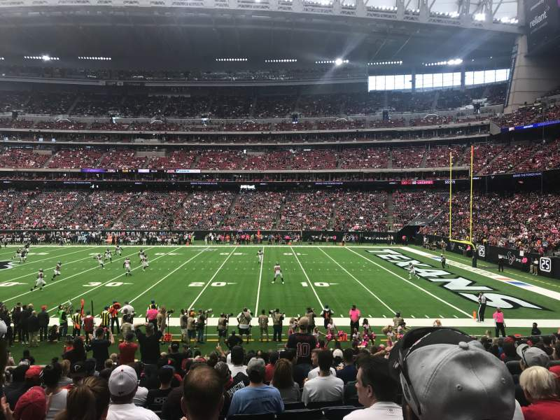 Seating view for NRG Stadium Section 124 Row U Seat 5