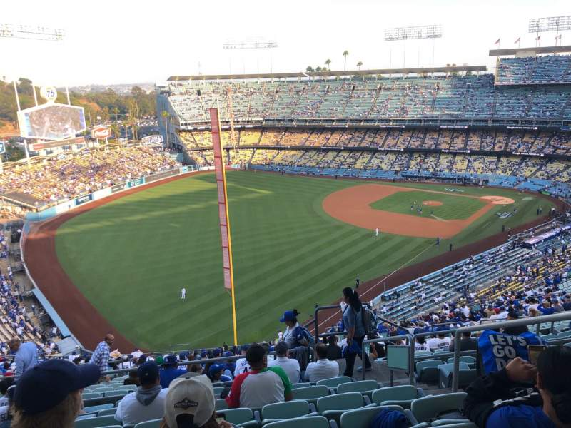 Seating view for Dodger Stadium Section 53RS Row HH Seat 4