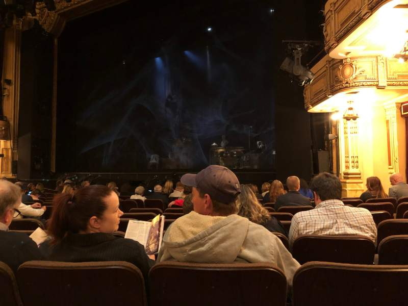 Seating view for Hippodrome Theatre Section Right Orchestra Row N Seat 16 and 18