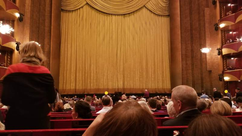 Seating view for Metropolitan Opera House - Lincoln Center Section Orch Row X Seat 102