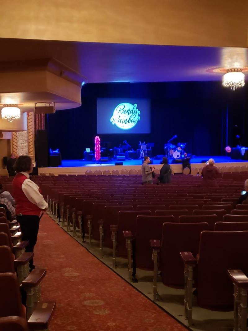 Seating view for Genesee Theatre Section ORCHL Row CC Seat 1
