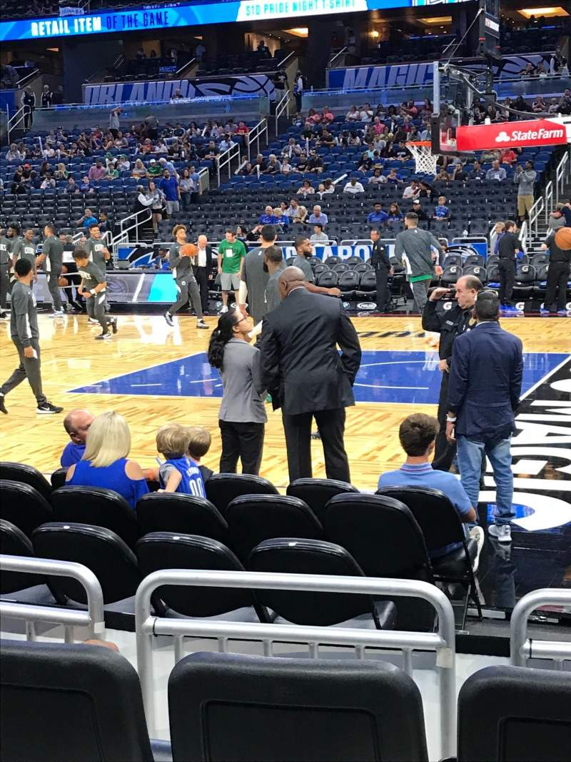 Seating view for Amway Center Section 113 Row 4 Seat 4
