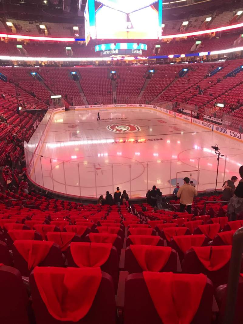 Seating view for Centre Bell Section 108 Row O Seat 2